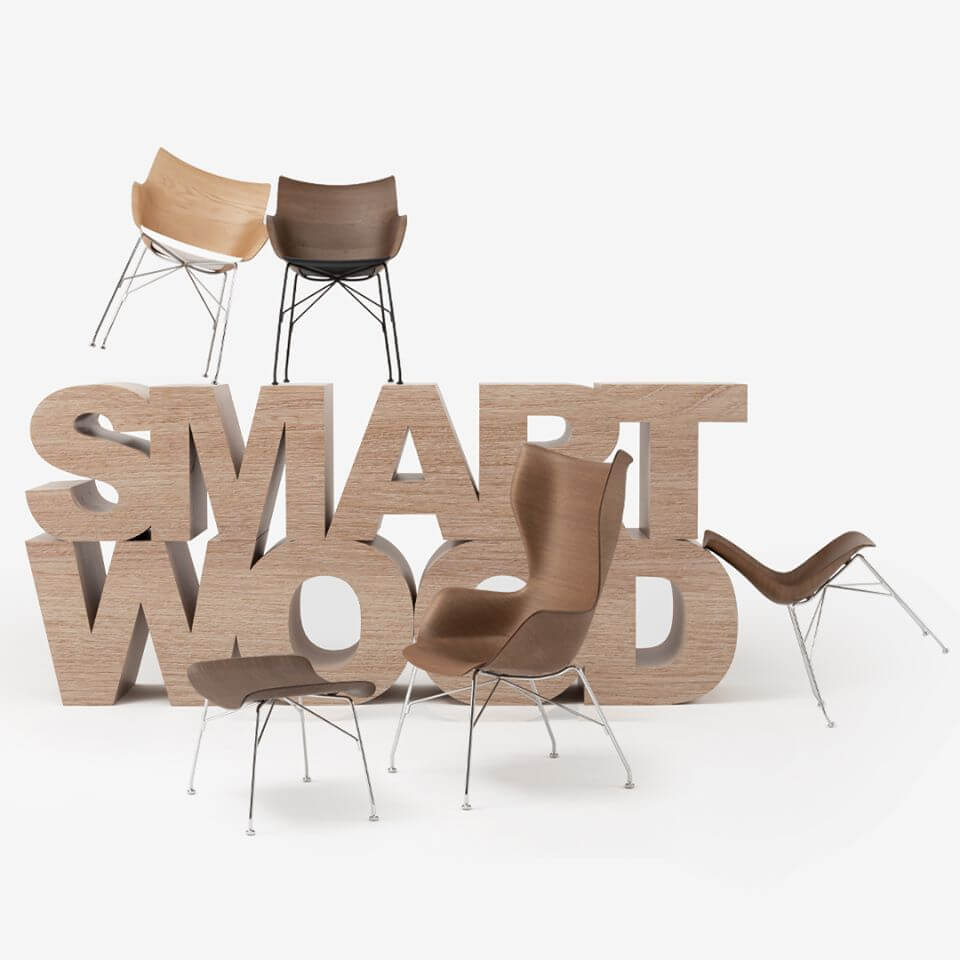 SMART WOOD by Starck for Kartell : la rencontre du bois et de la haute technologie -