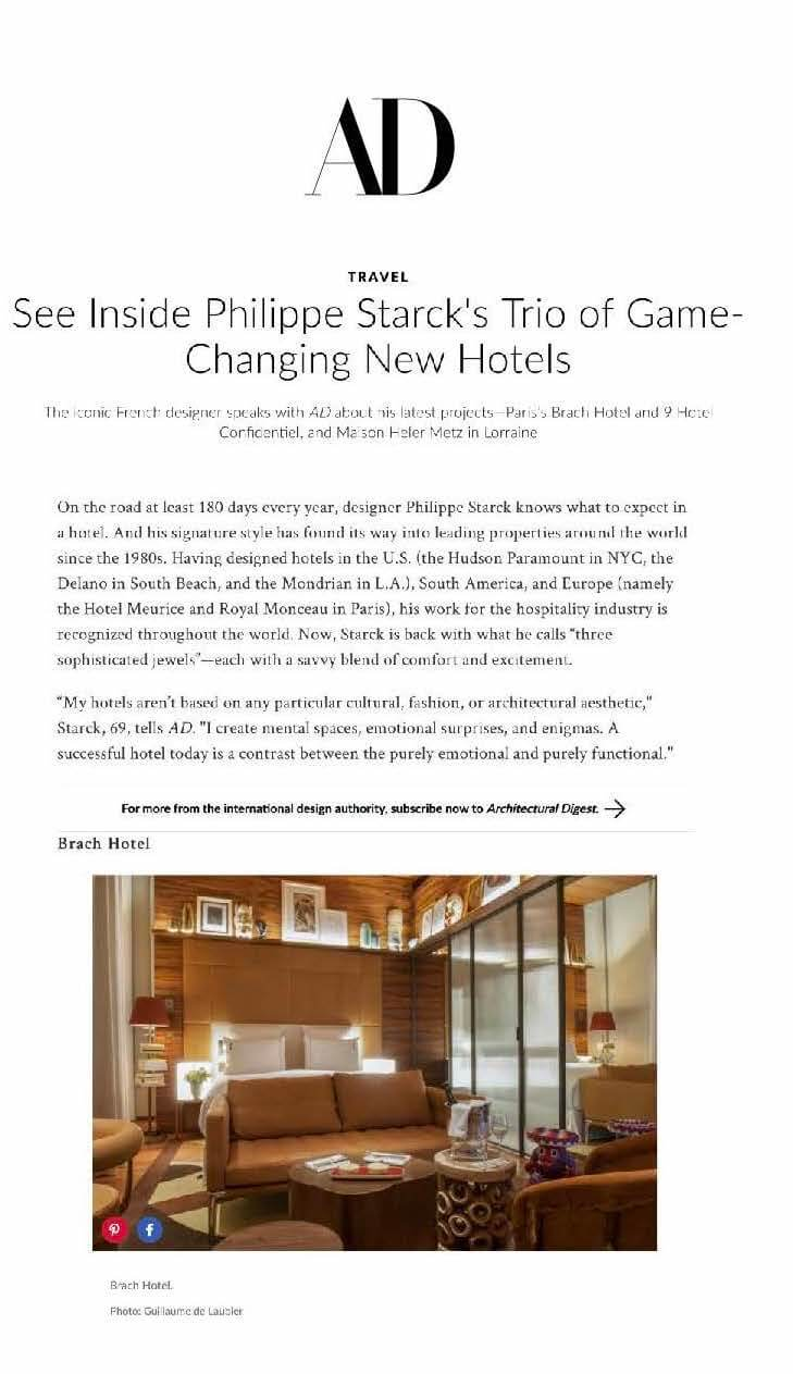 AD - See Inside Philippe Starck's Trio of Game-changing New Hotels